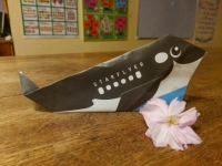 A Killer Whale and a Flower